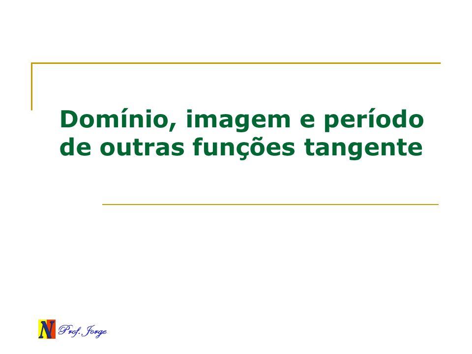 Prof. Jorge Domínio, imagem e período de outras funções tangente
