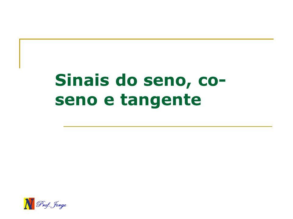 Prof. Jorge Sinais do seno, co- seno e tangente