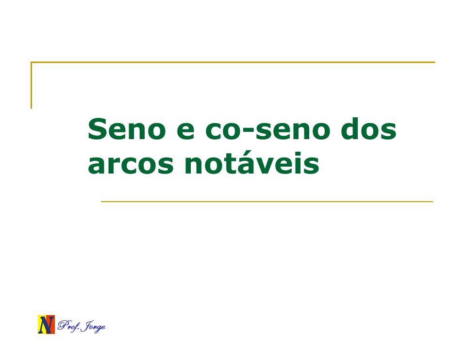 Prof. Jorge Seno e co-seno dos arcos notáveis