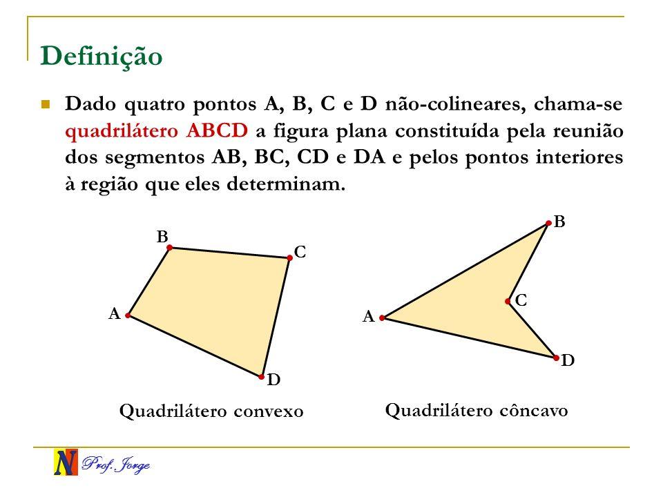 Prof.Jorge Elementos principais A figura mostra o quadrilátero convexo ABCD.