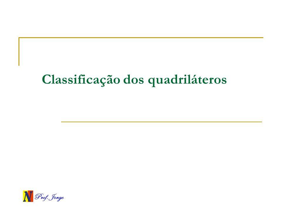 Prof. Jorge Classificação dos quadriláteros