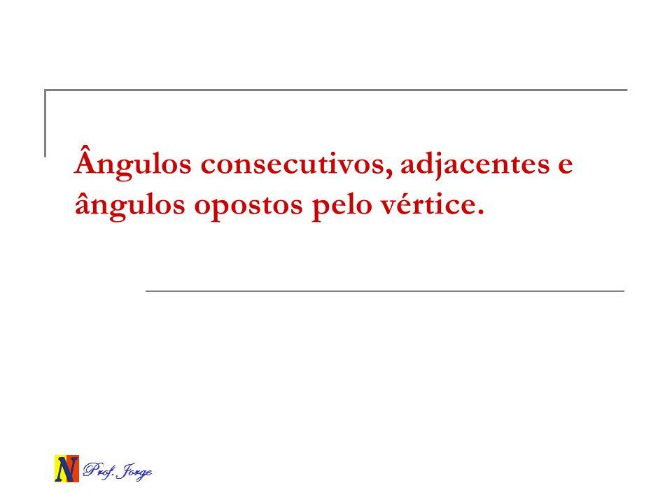 Prof. Jorge Ângulos em retas paralelas