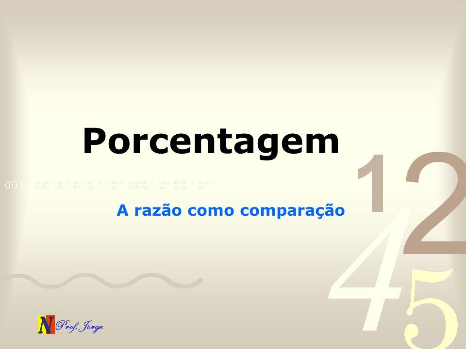 Prof.Jorge Para refletir. Porcentagem: a razão como comparação O real 1 é fator de aumento.