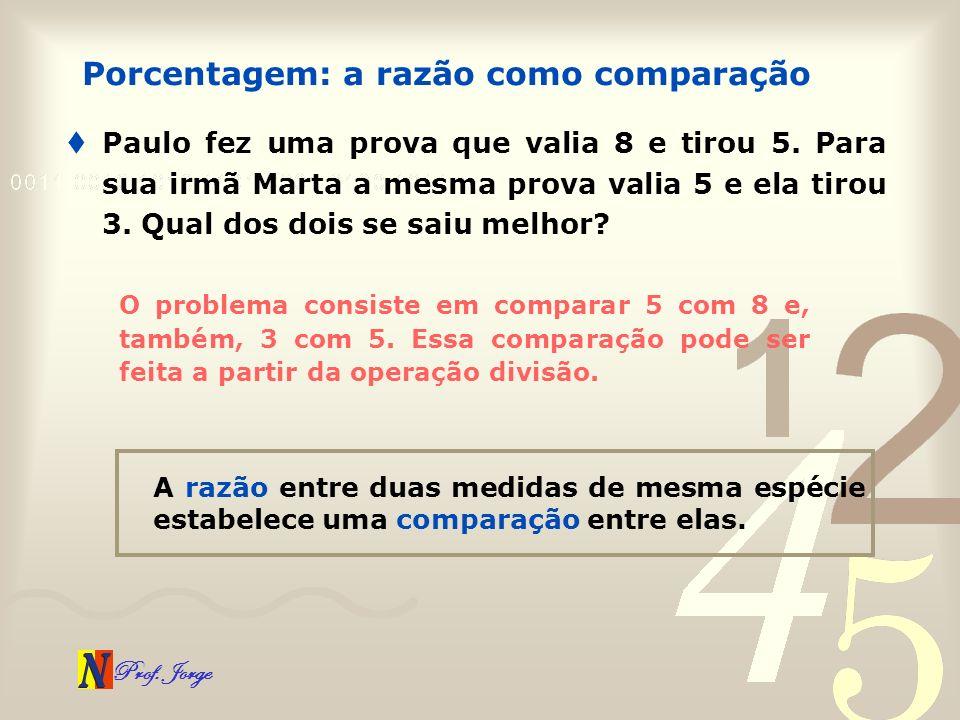 Prof.Jorge Paulo fez uma prova que valia 8 e tirou 5.