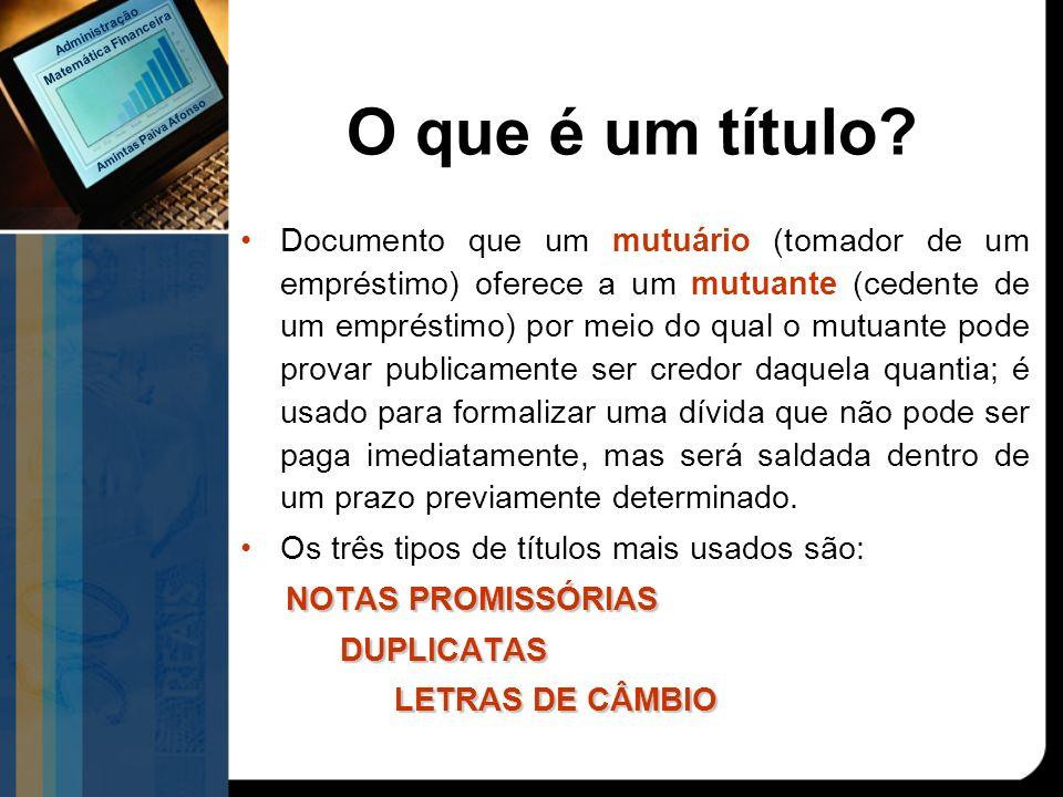 Documento que um mutuário (tomador de um empréstimo) oferece a um mutuante (cedente de um empréstimo) por meio do qual o mutuante pode provar publicam