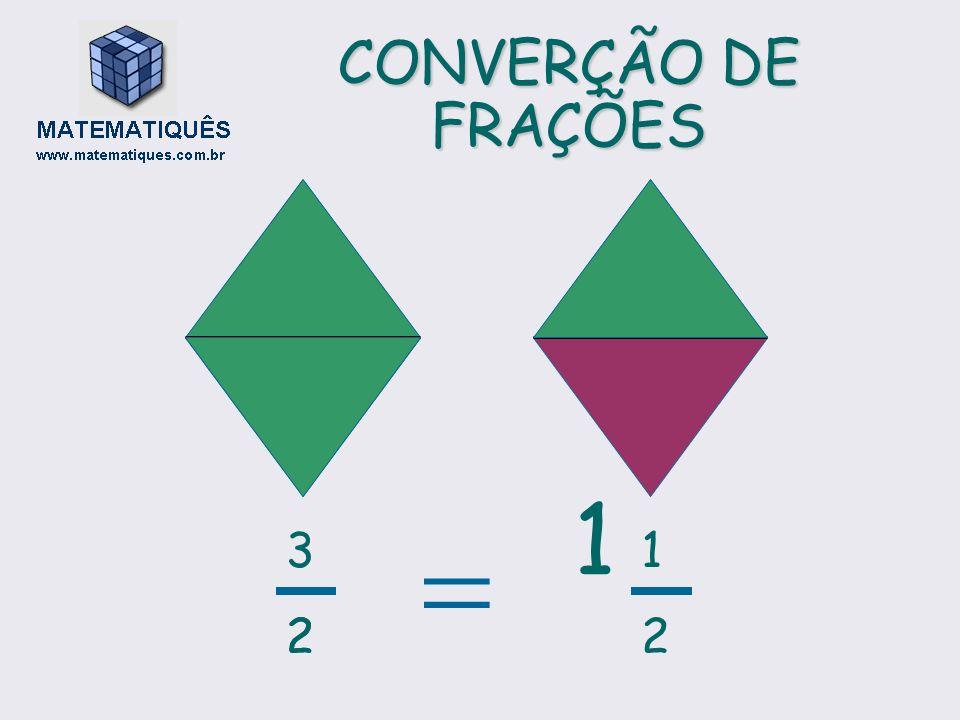 CONVERÇÃO DE FRAÇÕES 2 1212 1 3232