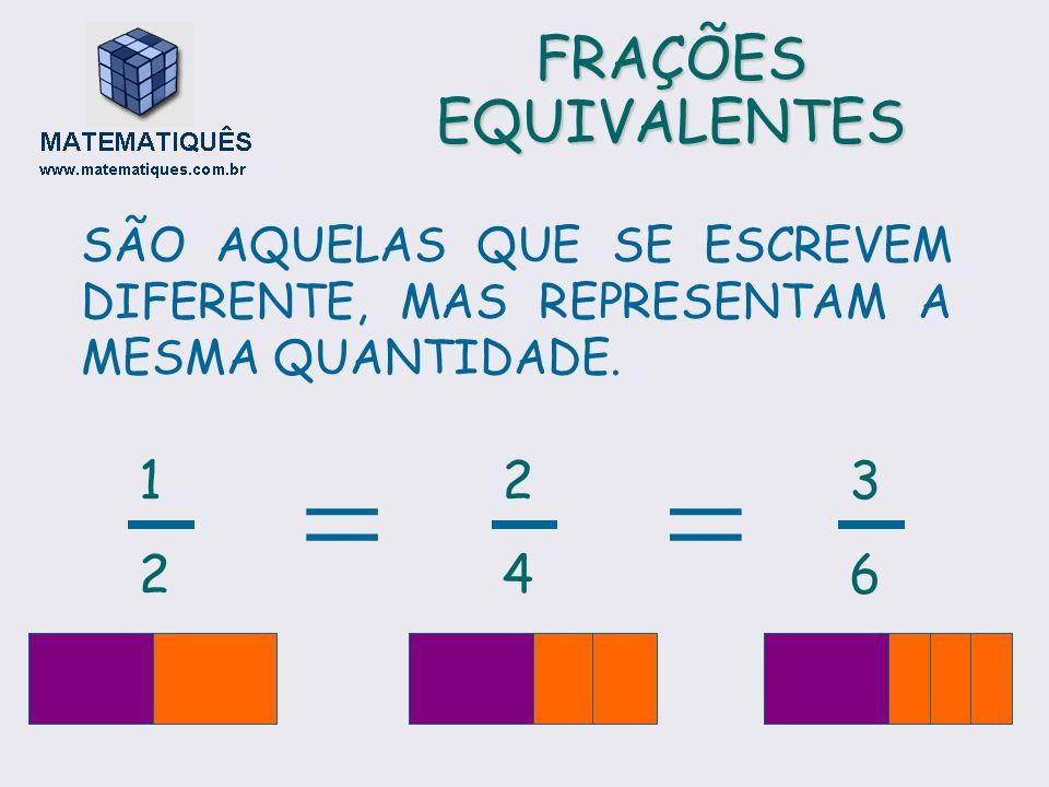 COMPARAÇÃO DE FRAÇÕES MAIOR QUE MENOR QUE IGUAL