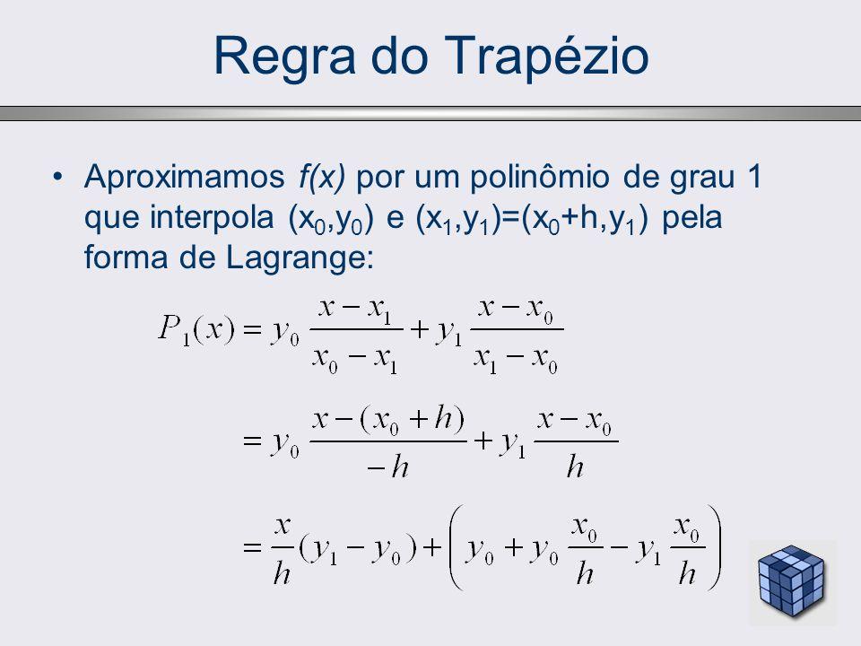 Regra do Trapézio Integrando o polinômio no intervalo [x 0,x 1 ]: