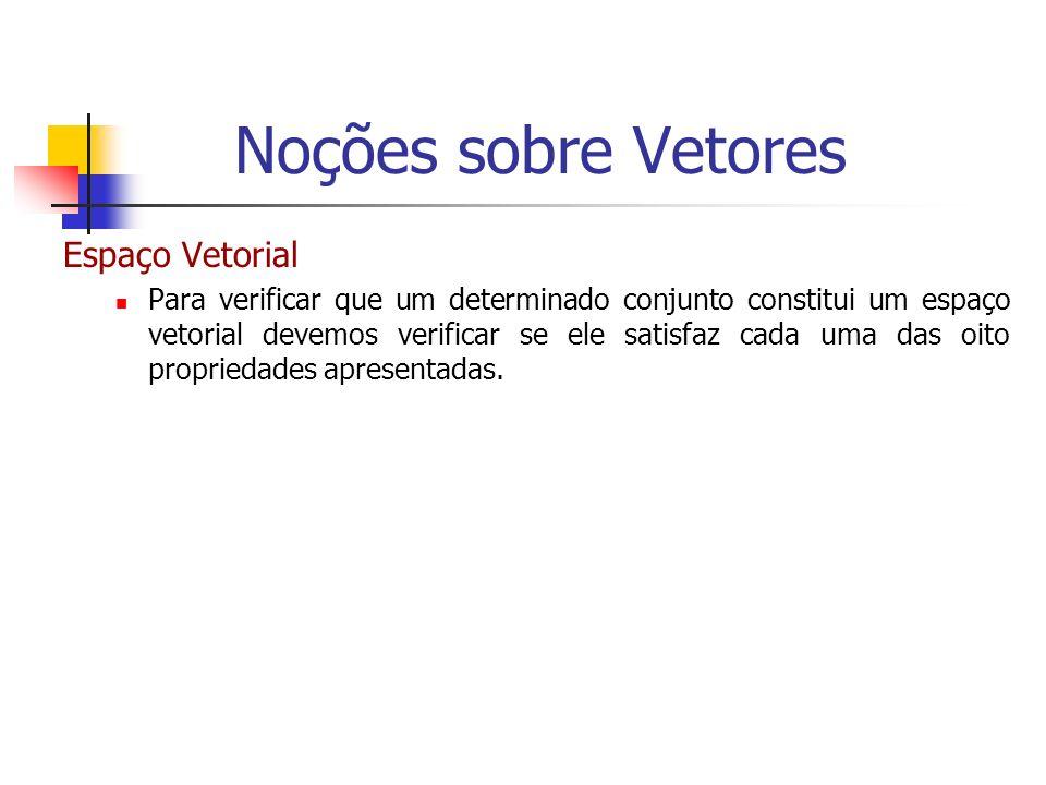 Exemplo Calcule o volume de um paralelepípedo definido pelos seguintes vetores: = (2,2,0); = (0,1,0) e = (-2,-1,-1) mas, h=||proj || Noções sobre Vetores