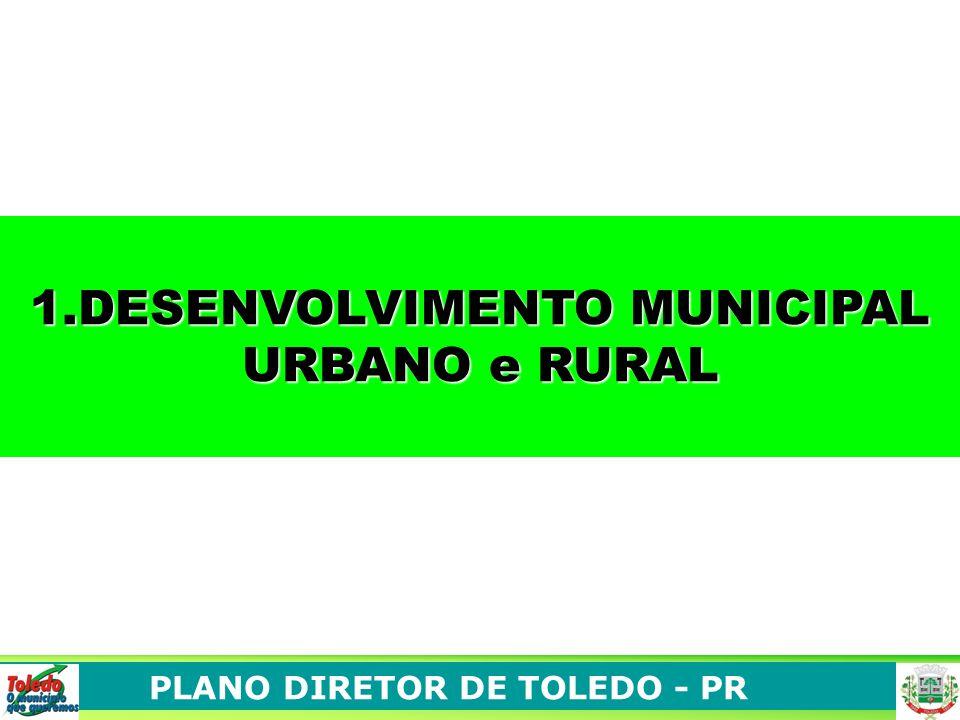 PLANO DIRETOR DE TOLEDO - PR 1.DESENVOLVIMENTO MUNICIPAL URBANO e RURAL