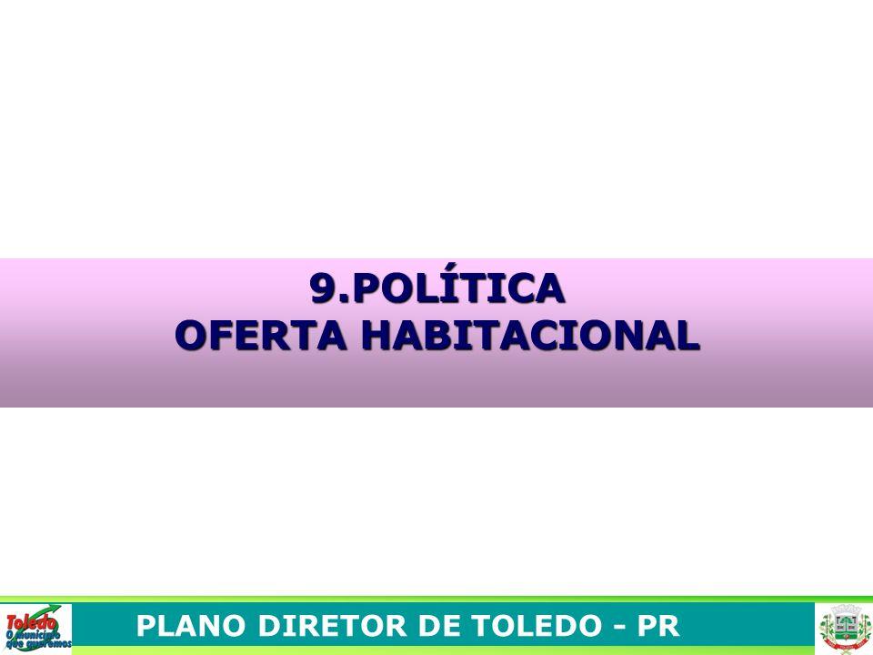 PLANO DIRETOR DE TOLEDO - PR 9.POLÍTICA OFERTA HABITACIONAL