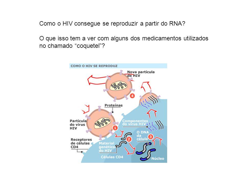 Como o HIV consegue se reproduzir a partir do RNA? O que isso tem a ver com alguns dos medicamentos utilizados no chamado coquetel?