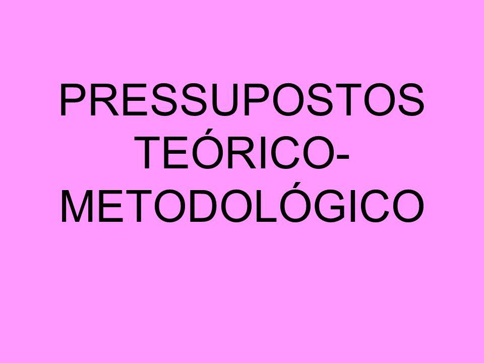 PRESSUPOSTOS TEÓRICO- METODOLÓGICO