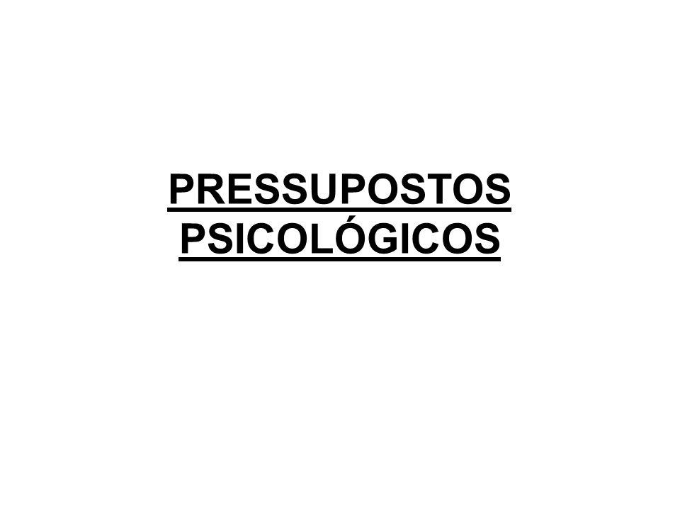 PRESSUPOSTOS PSICOLÓGICOS