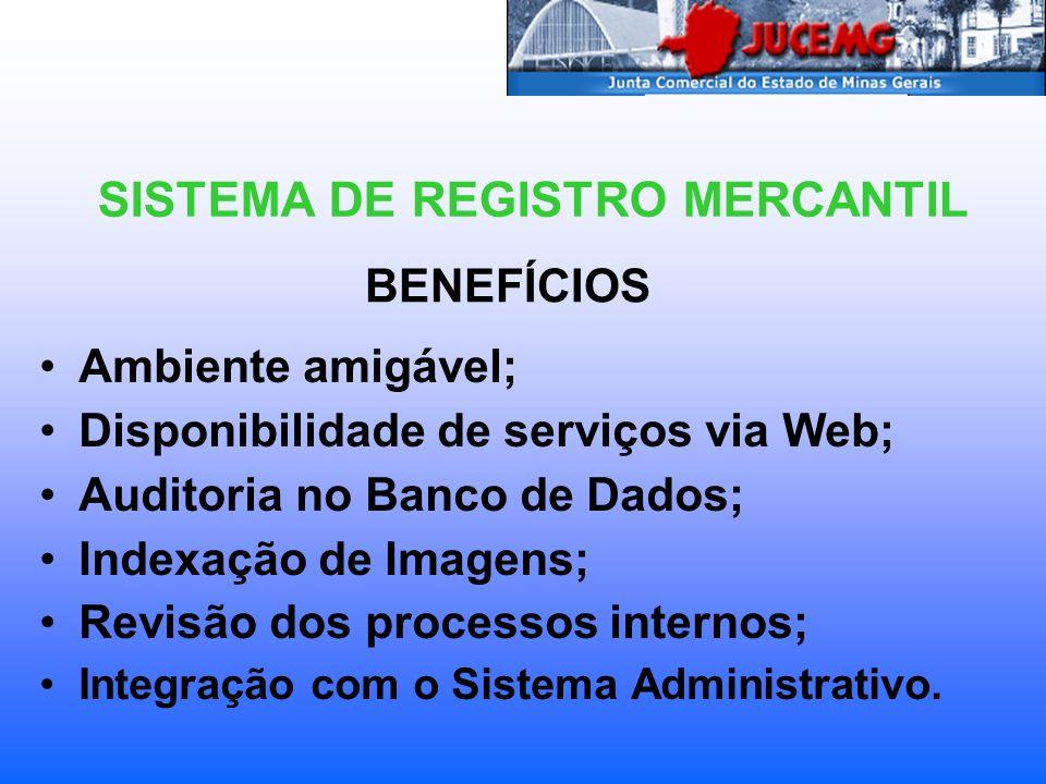 BENEFÍCIOS Ambiente amigável; Disponibilidade de serviços via Web; Auditoria no Banco de Dados; Indexação de Imagens; Revisão dos processos internos;