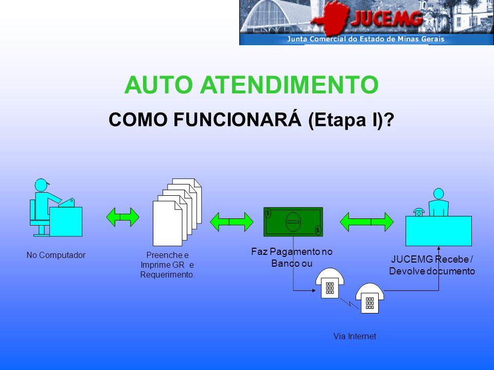 COMO FUNCIONARÁ (Etapa II).AUTO ATENDIMENTO No ComputadorPreenche e Imprime GR e Requerimento.