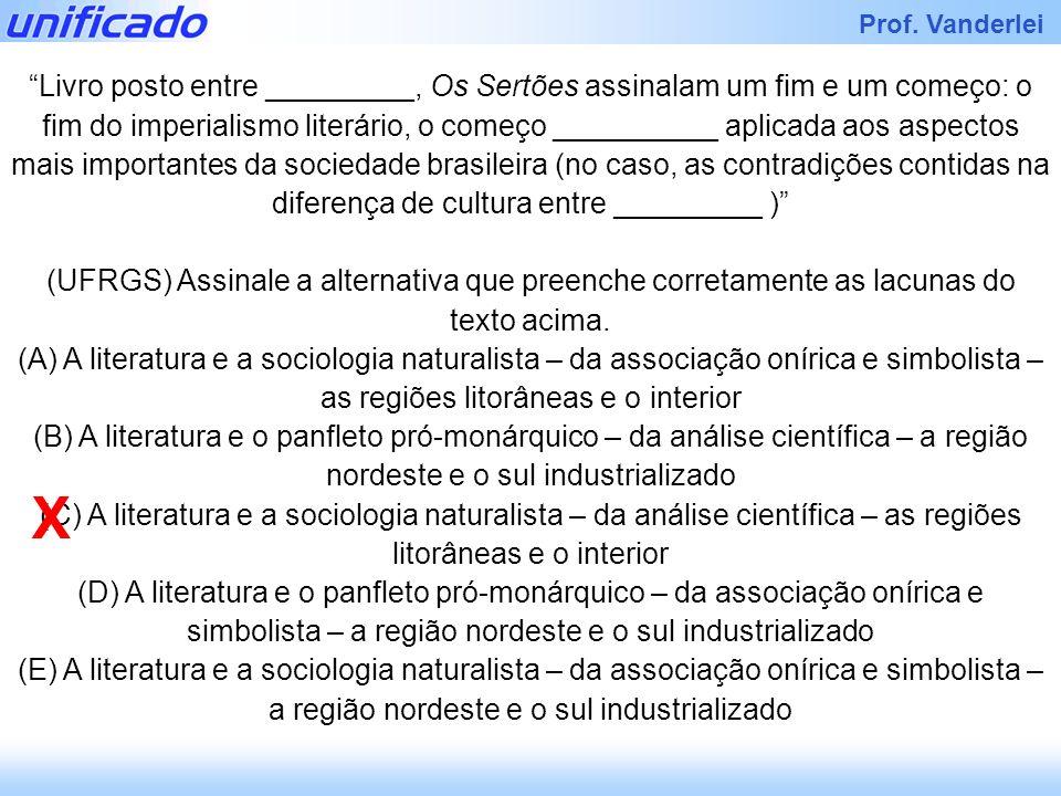 Iracema Prof. Vanderlei GRAÇA ARANHA