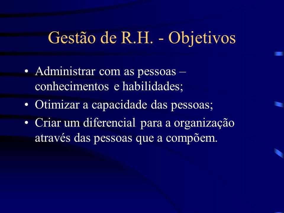 Gestão de R.H.