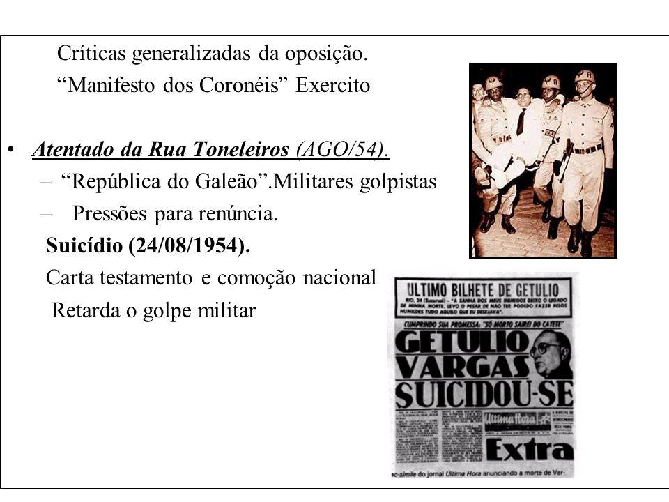Emenda constitucional - Solução Parlamentarista 1961 -1963 Jango - Presidente Tancredo Neves – Primeiro Ministro Realização do plebiscito (6 de janeiro de 1963): de um total de 12 milhões de votos, quase 10 milhões de cidadãos votaram contra o parlamentarismo;