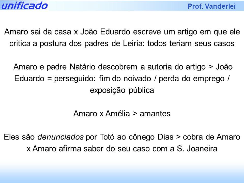 Prof. Vanderlei Amaro sai da casa x João Eduardo escreve um artigo em que ele critica a postura dos padres de Leiria: todos teriam seus casos Amaro e