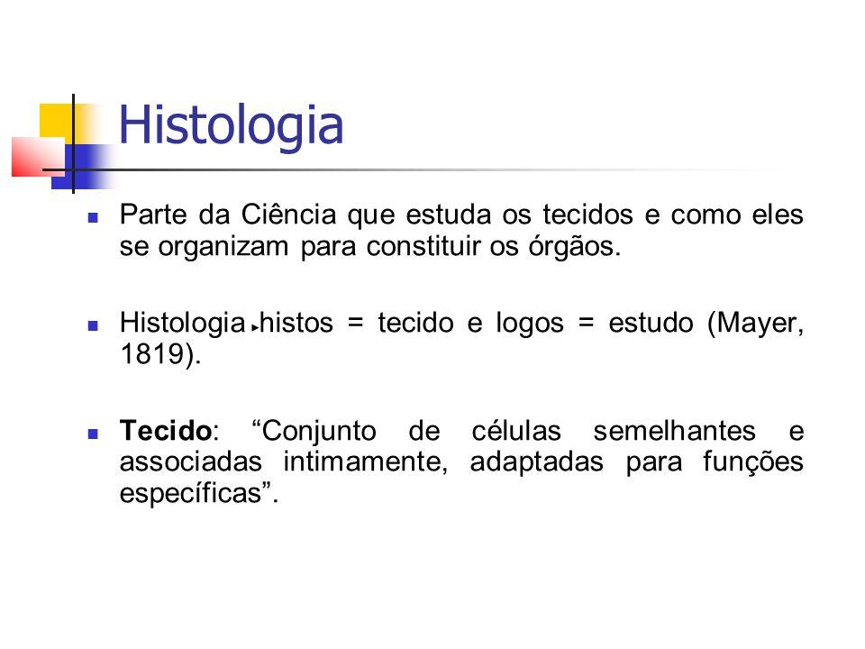 Histologia Os tecidos são constituídos por células e matriz extracelular (MEC) que estão intimamente correlacionados.