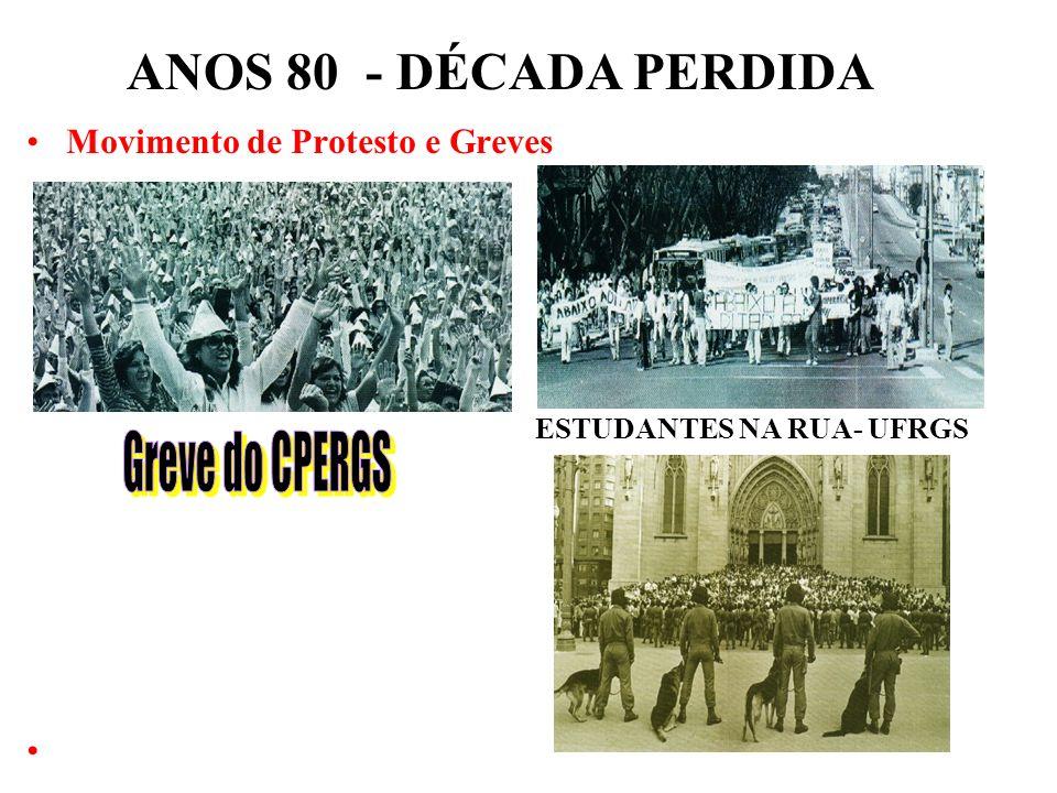 BRASIL REPÚBLICA (1889 – ) ANOS 80 - DÉCADA PERDIDA 1 – GOVERNO JOÃO FIGUEIREDO (1979 – 1985): Início dos Anos 80 – Década Perdida Conclusão do proces
