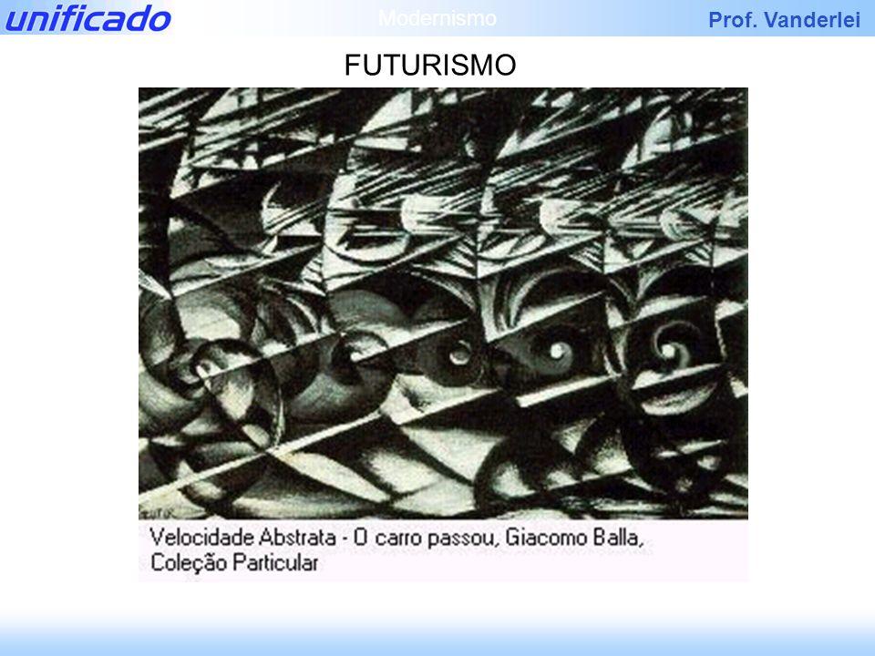 Prof. Vanderlei FUTURISMO Modernismo