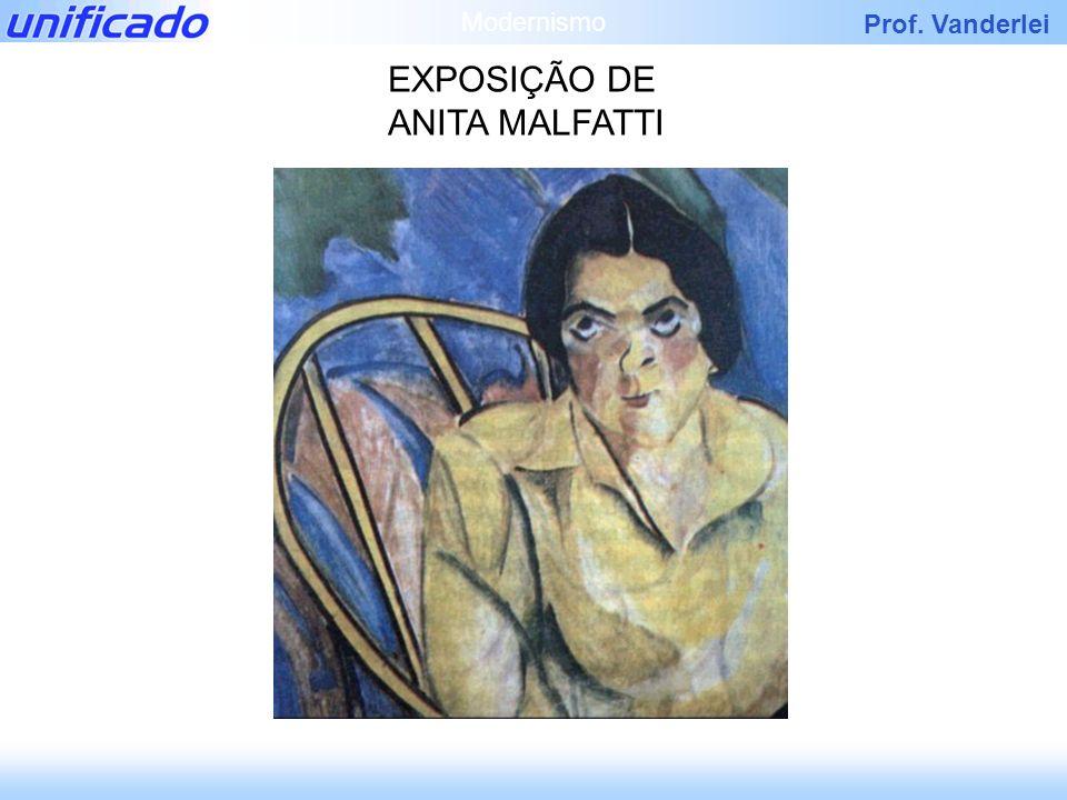 Prof. Vanderlei EXPOSIÇÃO DE ANITA MALFATTI Modernismo