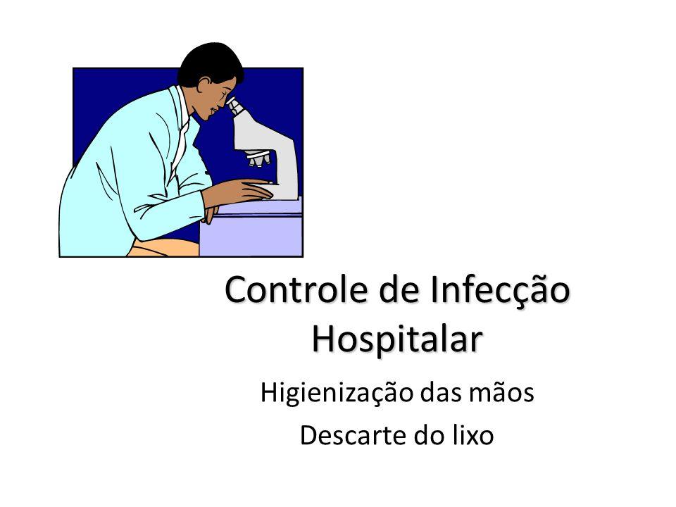 Controle de Infecção Hospitalar Higienização das mãos Descarte do lixo Profª. Ms.Fátima Rejane Ayres florentino