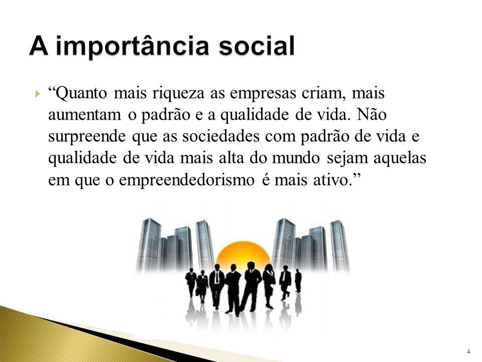 Quanto mais riqueza as empresas criam, mais aumentam o padrão e a qualidade de vida. Não surpreende que as sociedades com padrão de vida e qualidade d