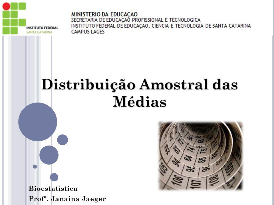 Distribuição Amostral das Médias Bioestatística Profª. Janaína Jaeger