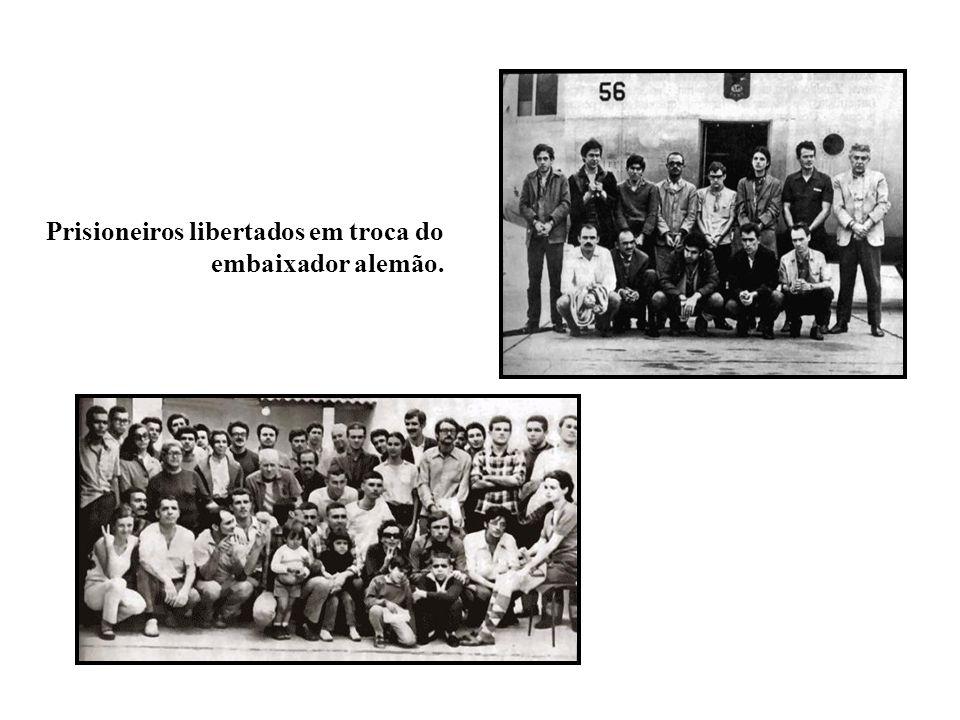 BRASIL REPÚBLICA (1889 – ) Prisioneiros libertados em troca do embaixador alemão.