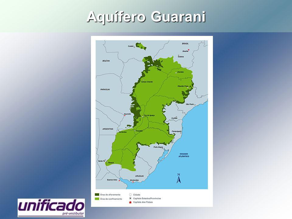 Rios típicos de planalto (Paraná e Grande), com muitas usinas hidrelétricas instaladas.
