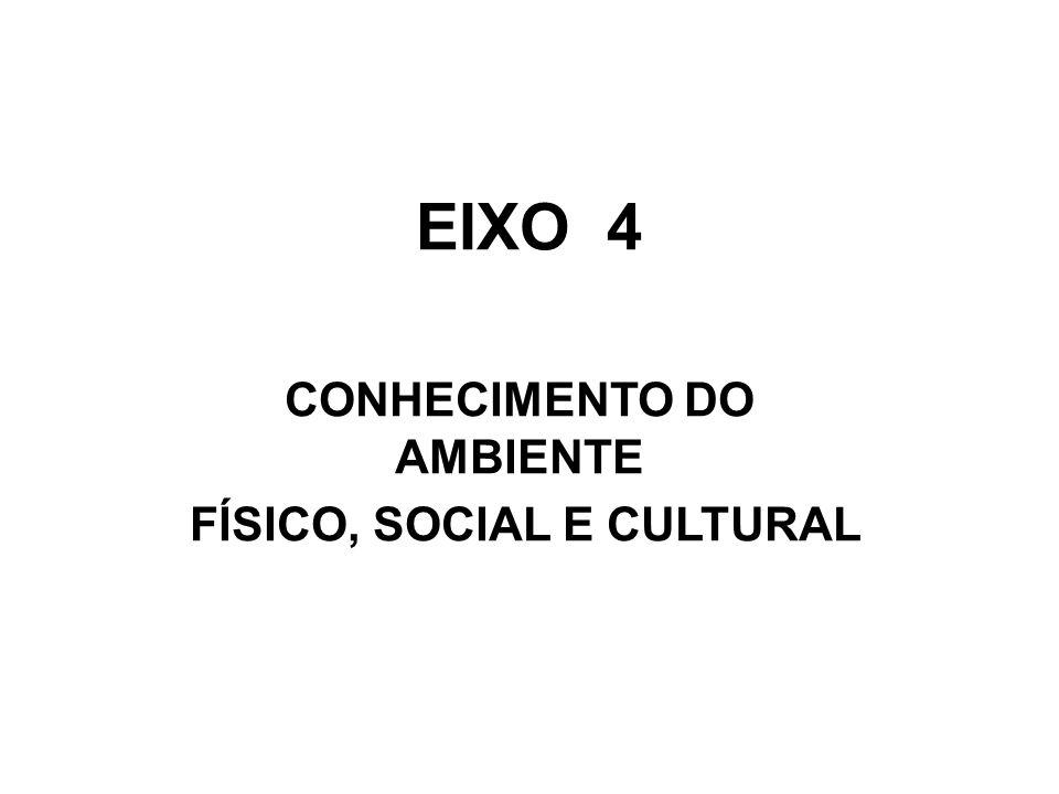 EIXO 4 CONHECIMENTO DO AMBIENTE FÍSICO, SOCIAL E CULTURAL
