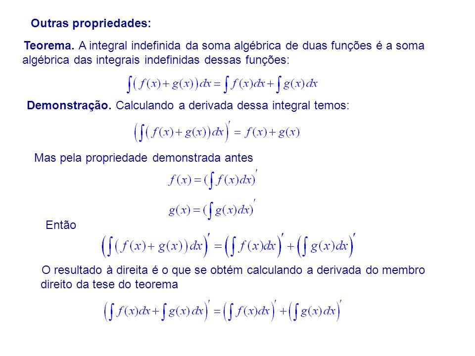 Outras propriedades: Teorema.
