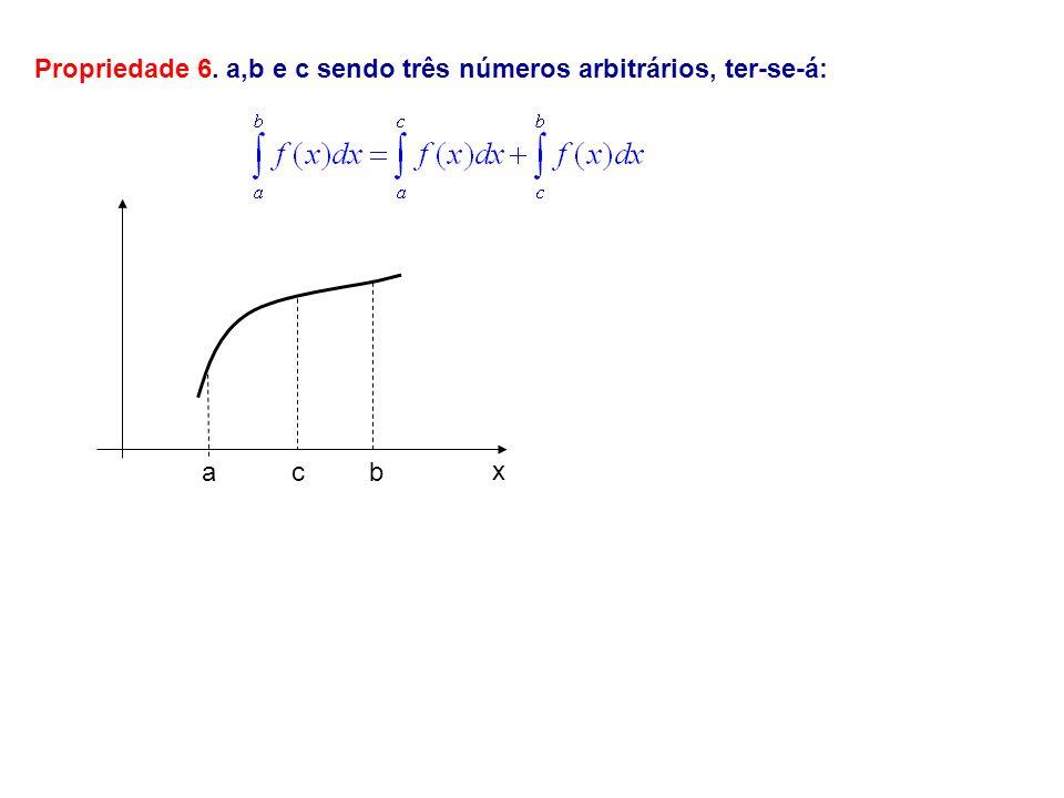 Propriedade 6. a,b e c sendo três números arbitrários, ter-se-á: abc x