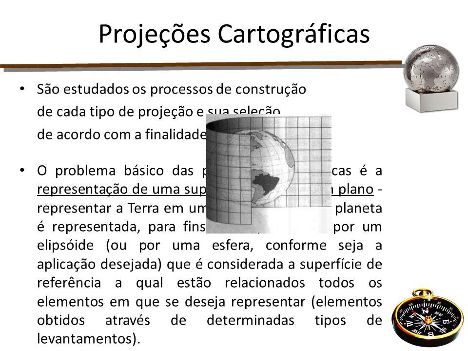 São estudados os processos de construção de cada tipo de projeção e sua seleção, de acordo com a finalidade em vista. O problema básico das projeções