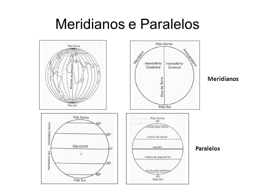 Meridianos e Paralelos Meridianos Paralelos