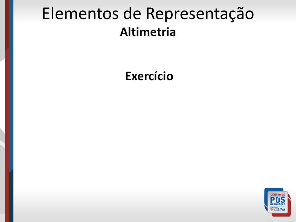 Exercício Elementos de Representação Altimetria