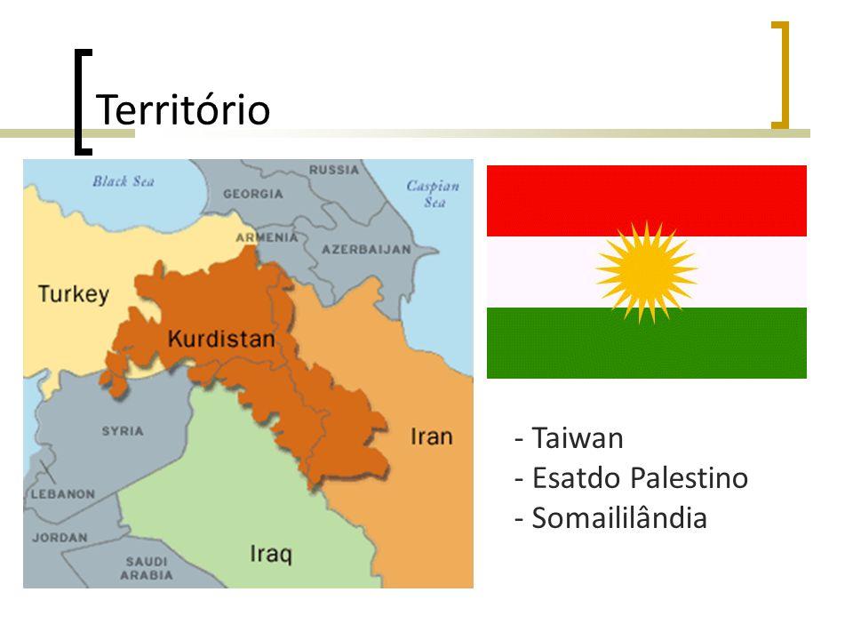 Território - Taiwan - Esatdo Palestino - Somaililândia