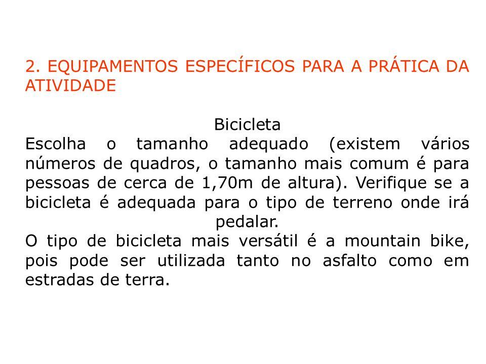 É importante que a bicicleta tenha passado por uma revisão completa antes do passeio.