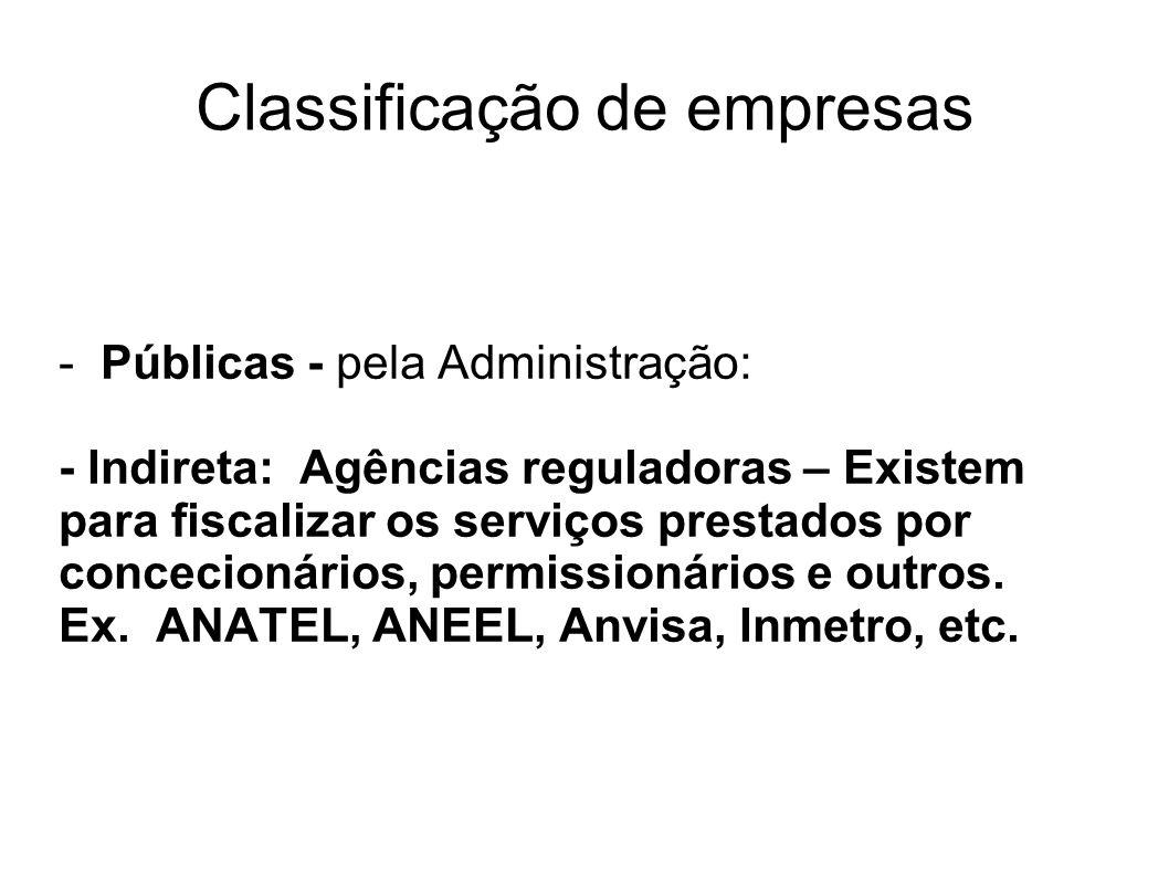 Classificação de empresas - Matriz - Sede de um estabelecimento em relação a suas filiais.