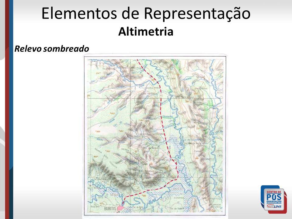 Elementos de Representação Altimetria Relevo sombreado