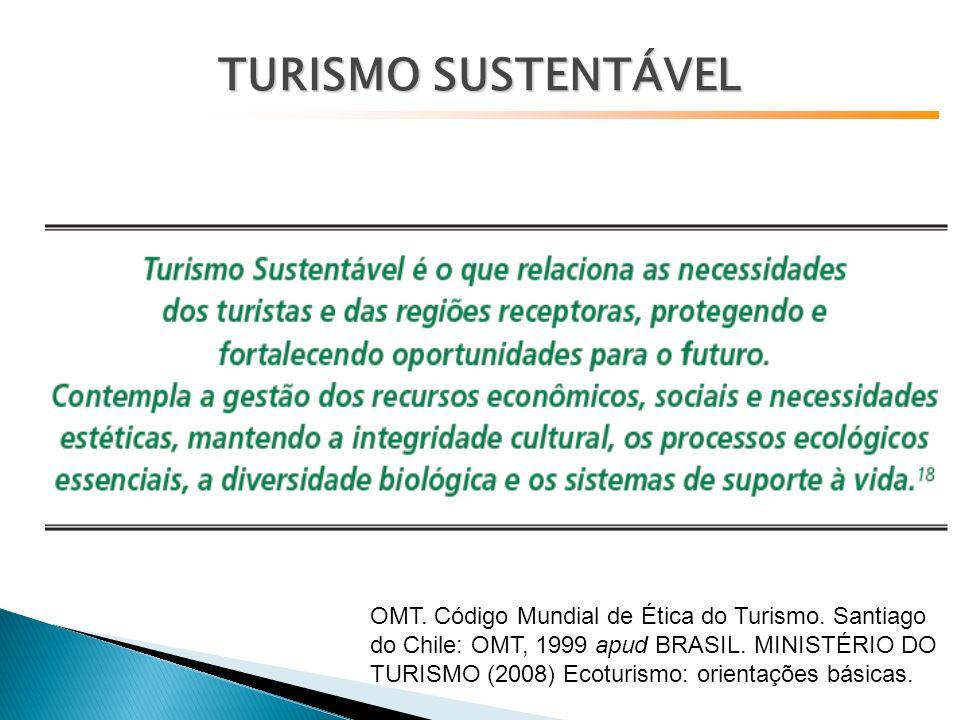 OMT.Código Mundial de Ética do Turismo. Santiago do Chile: OMT, 1999 apud BRASIL.