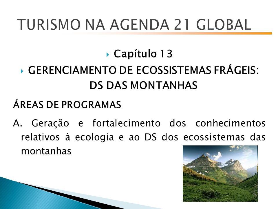 Capítulo 13 GERENCIAMENTO DE ECOSSISTEMAS FRÁGEIS: DS DAS MONTANHAS ÁREAS DE PROGRAMAS A.
