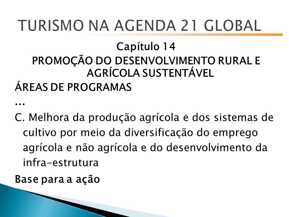 Capítulo 14 PROMOÇÃO DO DESENVOLVIMENTO RURAL E AGRÍCOLA SUSTENTÁVEL ÁREAS DE PROGRAMAS...