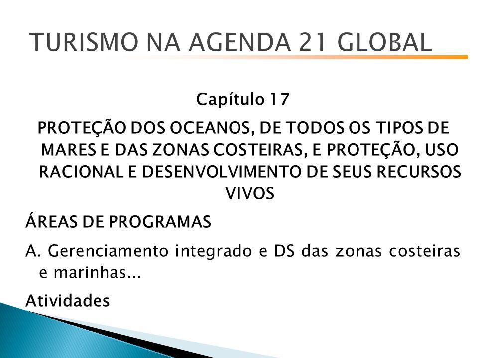 Capítulo 17 PROTEÇÃO DOS OCEANOS, DE TODOS OS TIPOS DE MARES E DAS ZONAS COSTEIRAS, E PROTEÇÃO, USO RACIONAL E DESENVOLVIMENTO DE SEUS RECURSOS VIVOS ÁREAS DE PROGRAMAS A.