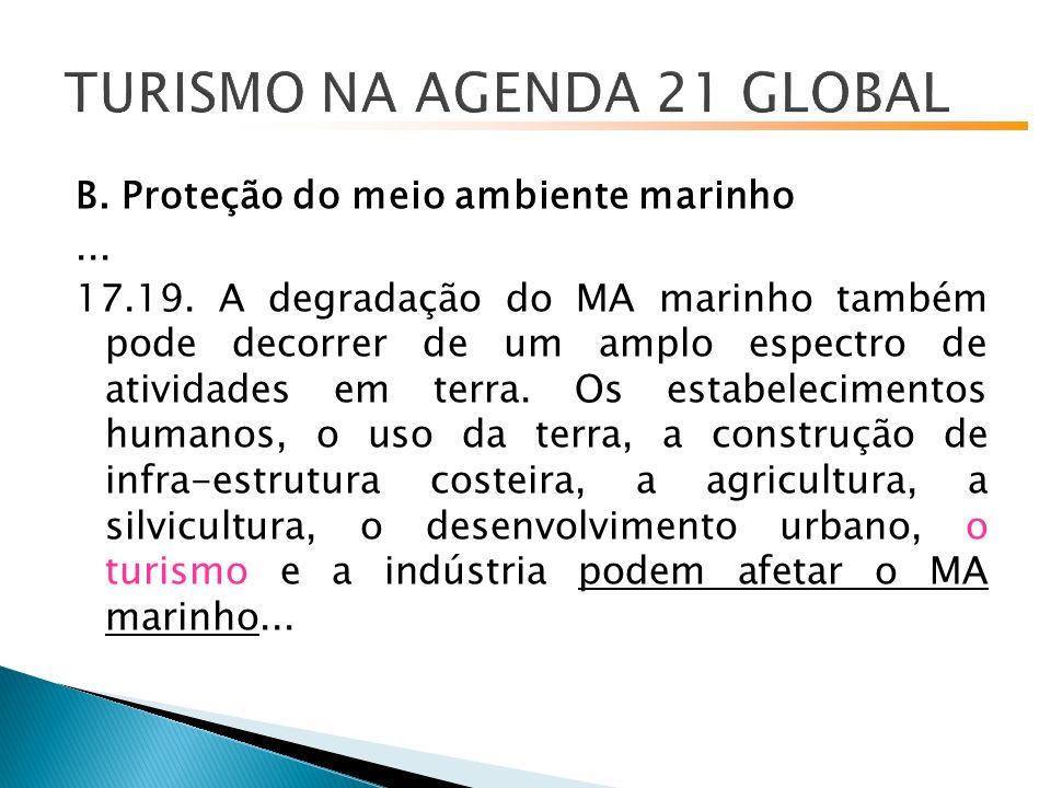 B.Proteção do meio ambiente marinho... 17.19.
