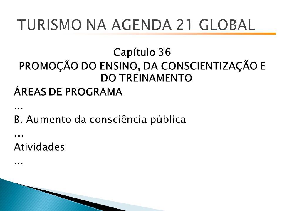 Capítulo 36 PROMOÇÃO DO ENSINO, DA CONSCIENTIZAÇÃO E DO TREINAMENTO ÁREAS DE PROGRAMA...