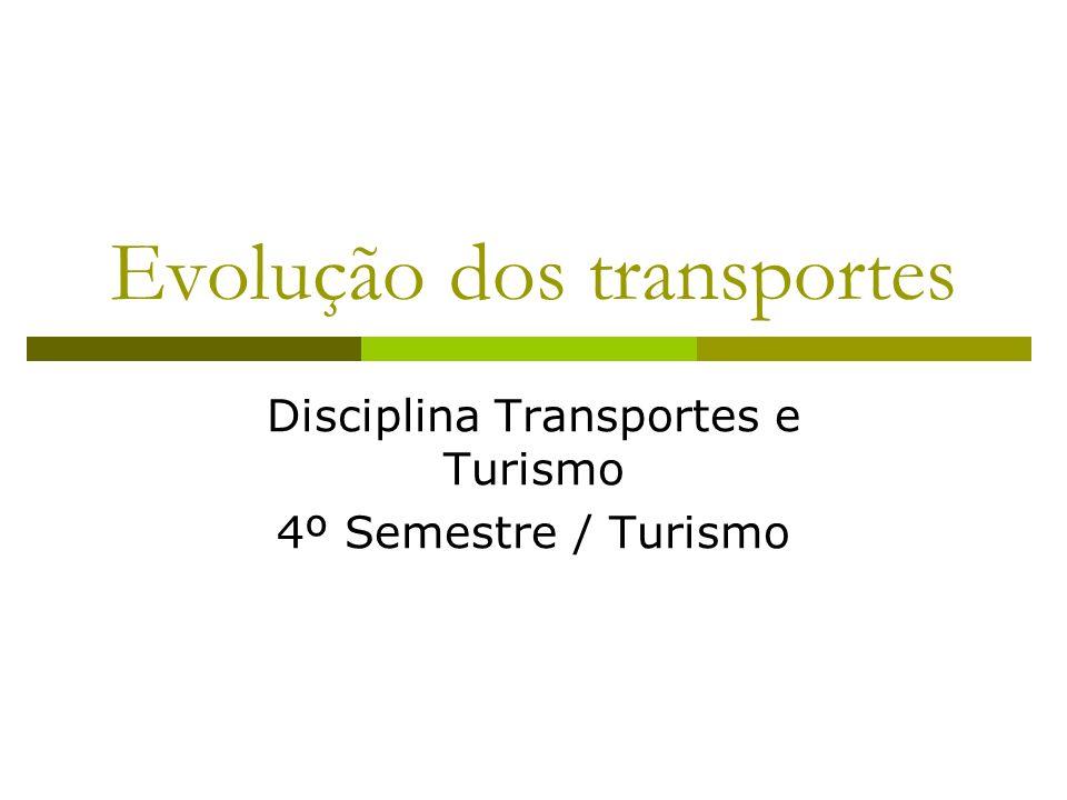 Evolução dos transportes Disciplina Transportes e Turismo 4º Semestre / Turismo